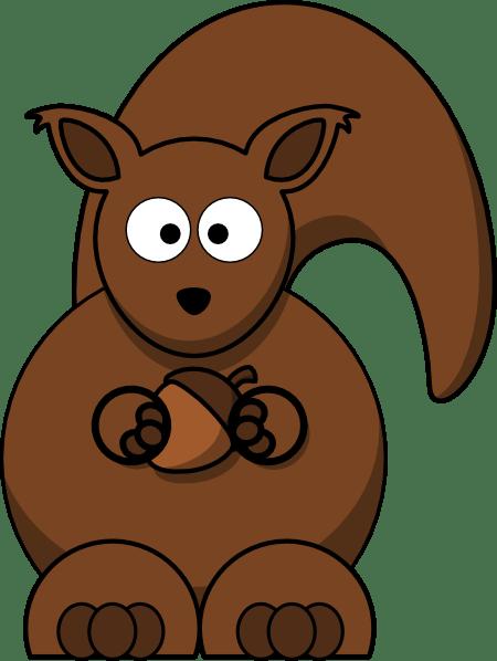 squirrel with nut clip art