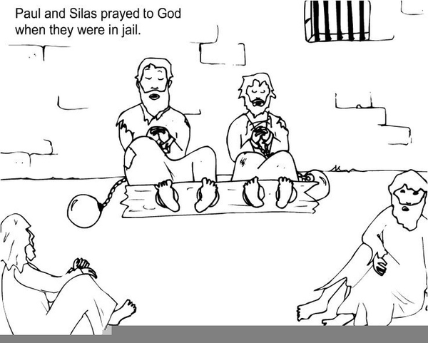 Paul And Silas In Prison Clipart All About Clipart