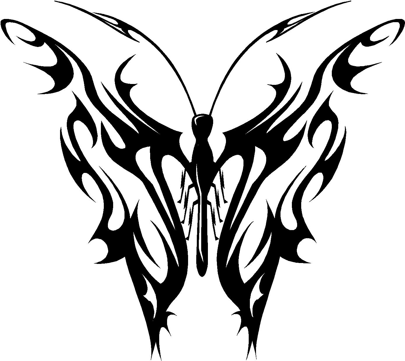 Butterfly Tribal Free Images At Clker