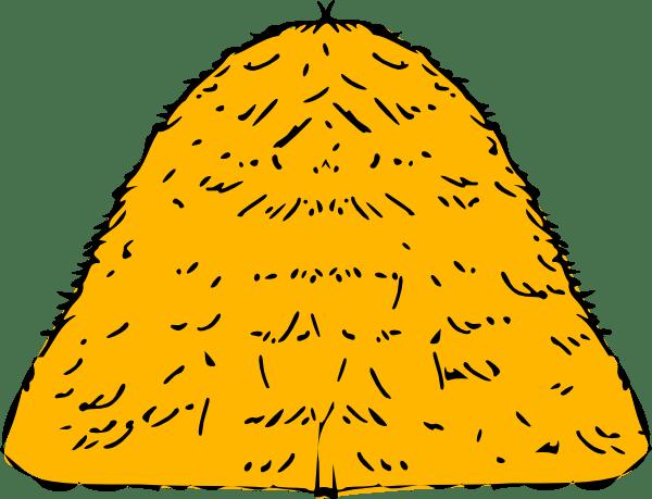 yellow hay stack clip art