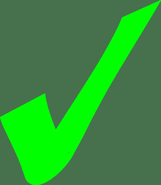 bright green check mark clip art