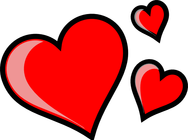three hearts clip art