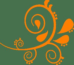 paisley curves orange clip art