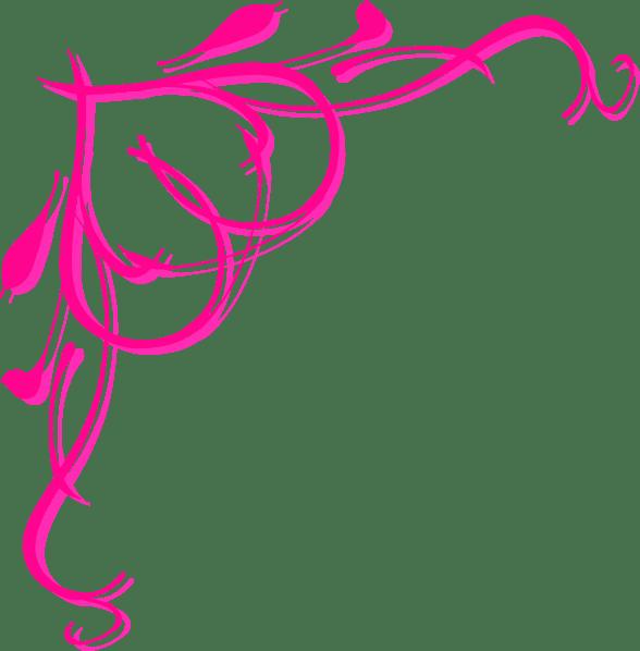 pink heart border clip