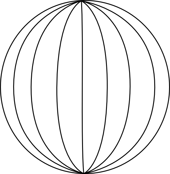 Big Blue Wire Globe Without Wireframe Clip Art at Clker