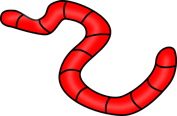red earth worm clip art