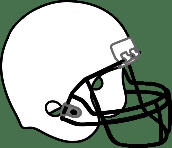 football helmet white black clip