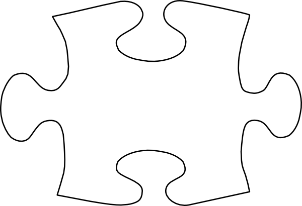Jigsaw White Puzzle Piece No Shadow Clip Art at Clker.com