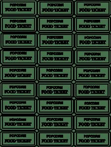 Popcorn Food Ticket Clip Art At Vector Clip Art Online Royalty Free Amp Public Domain