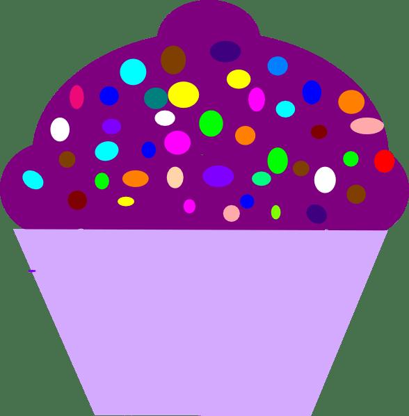 cupcake purple clip art