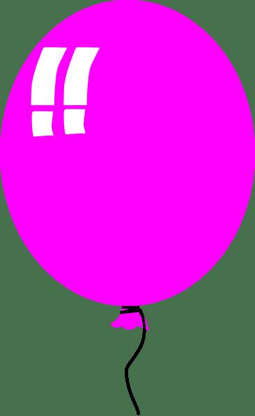 purple balloon 2 clip art