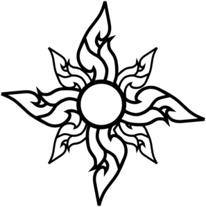 flower star outline clip art