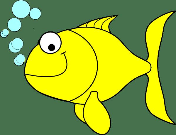 fish-yellow clip art