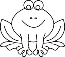 Frog Outline Clip Art at Clkercom vector clip art