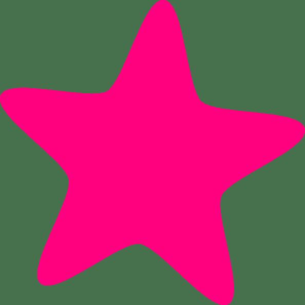 hot pink star clip art