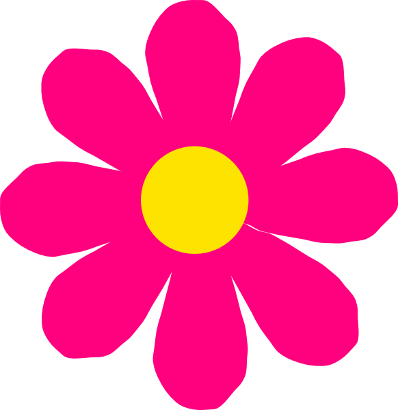 bright pink flower clip art