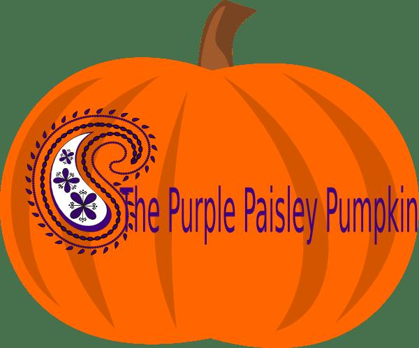 purple paisley pumpkin clip art