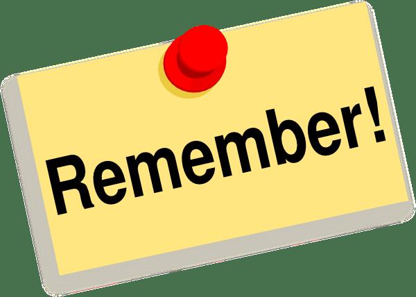 remember sticky note clip art