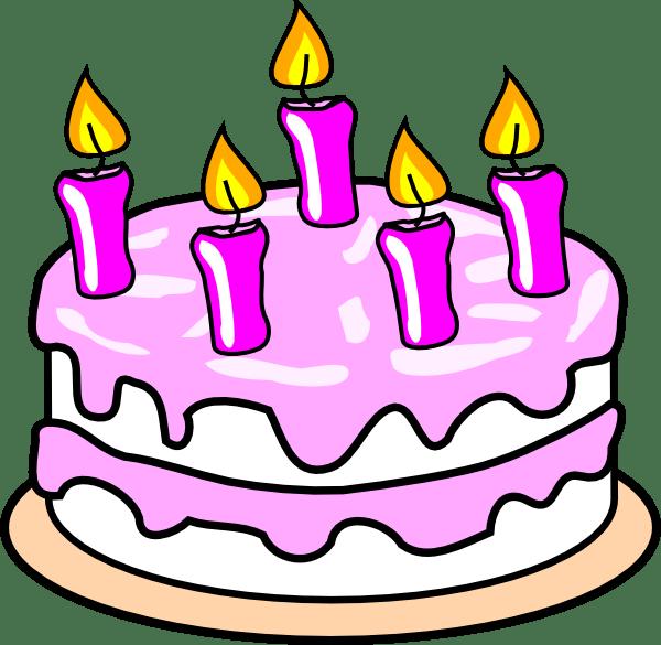 girl birthday cake clip art