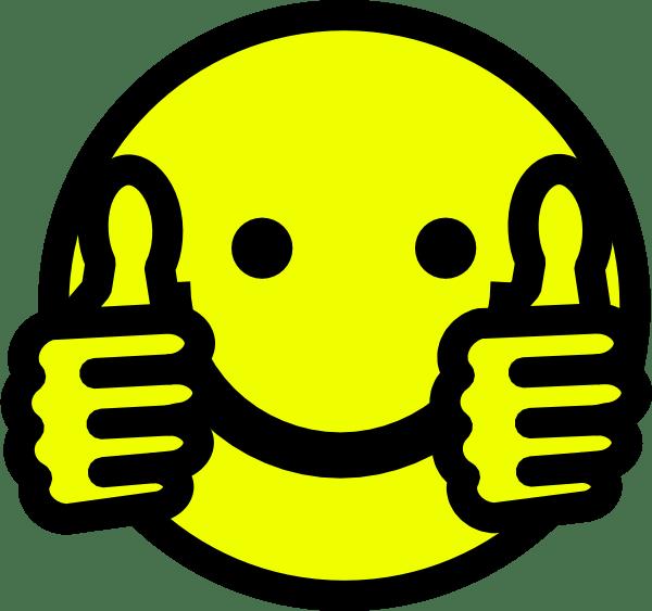 thumbs smiley clip art