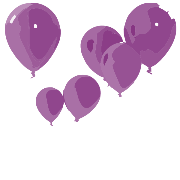 purple balloons clip art