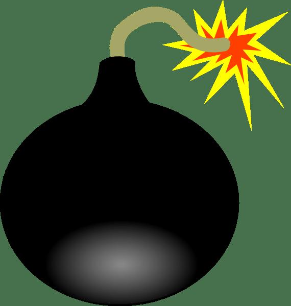 bomb clip art - vector