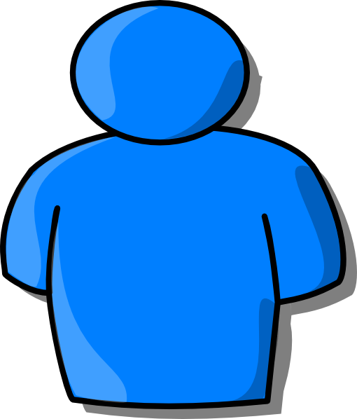 blue person clip art