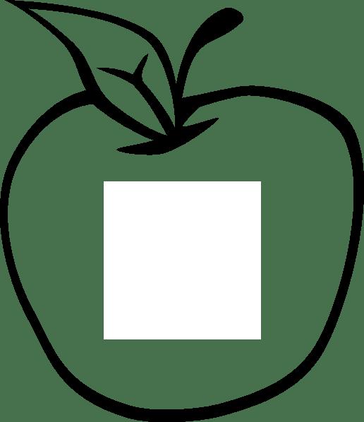 empty apple clip art