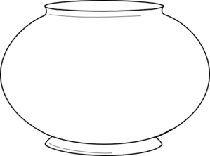 Simple Fishbowl Outline Clip Art At Vector