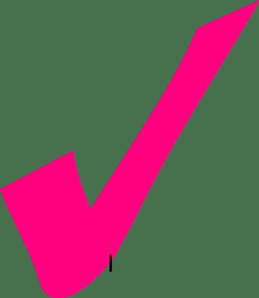pink tick clip art