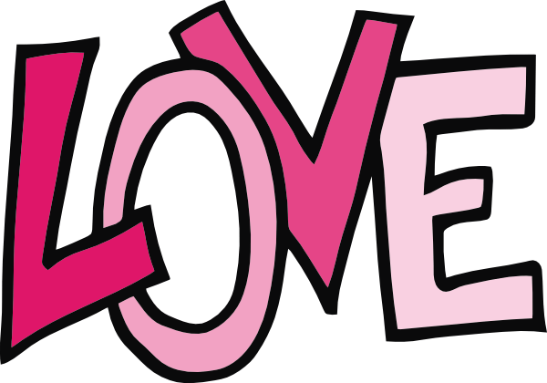 love freeform text clip art