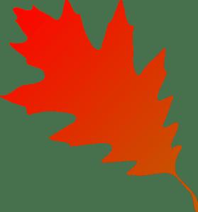 autumn leaf red orange clip art
