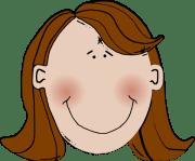 brown hair clip art
