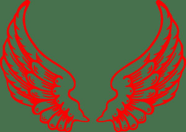 Multi Red Wings Clip Art at Clkercom  vector clip art