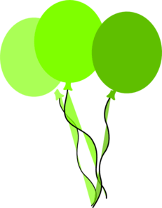 green party balloons clip art