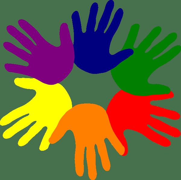Hands Various Colors Clip Art at Clkercom vector clip
