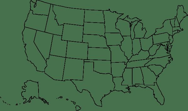 Us Map Blank Outlines Clip Art at Clkercom vector clip