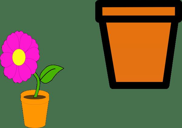flower pots clip art