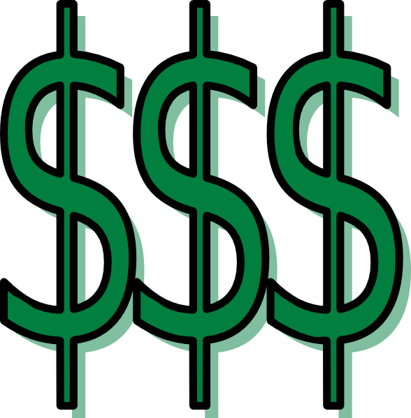 money clip art - vector