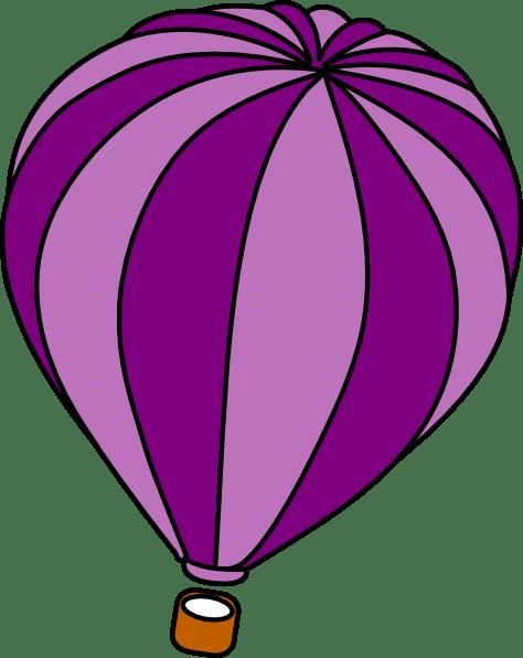 hot air balloon purple clip art