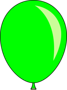 green balloon clip art