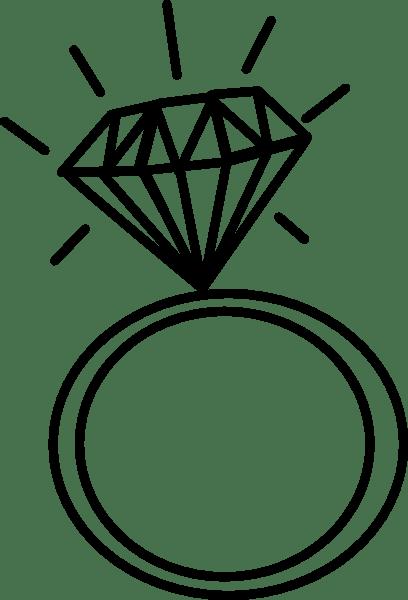 Diamond Ring Svg Diamond Ring Clipart Diamond Svg Monogram