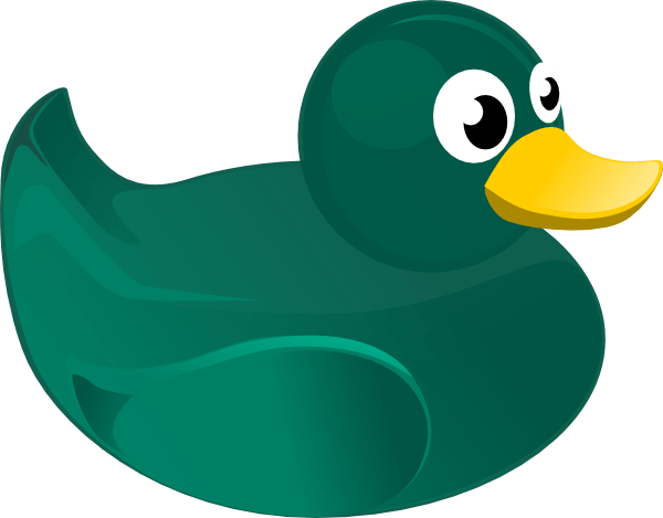 green rubber duck clip art