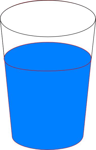 cup of blue water clip art
