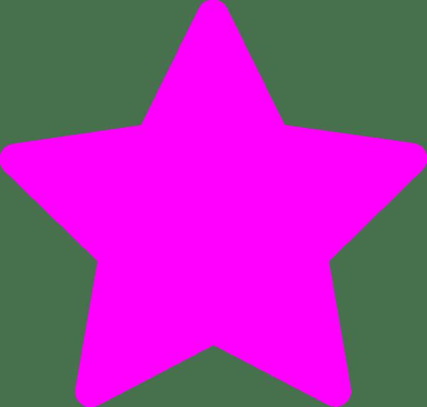 star-pink clip art