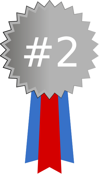 Silver Medal Numbered White Clip Art At Vector