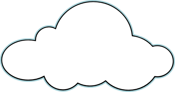 cloud clip art - vector