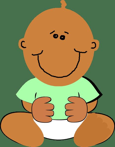 black baby clip art