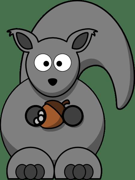 grey squirrel clip art