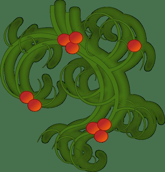 christmas swirls clip art